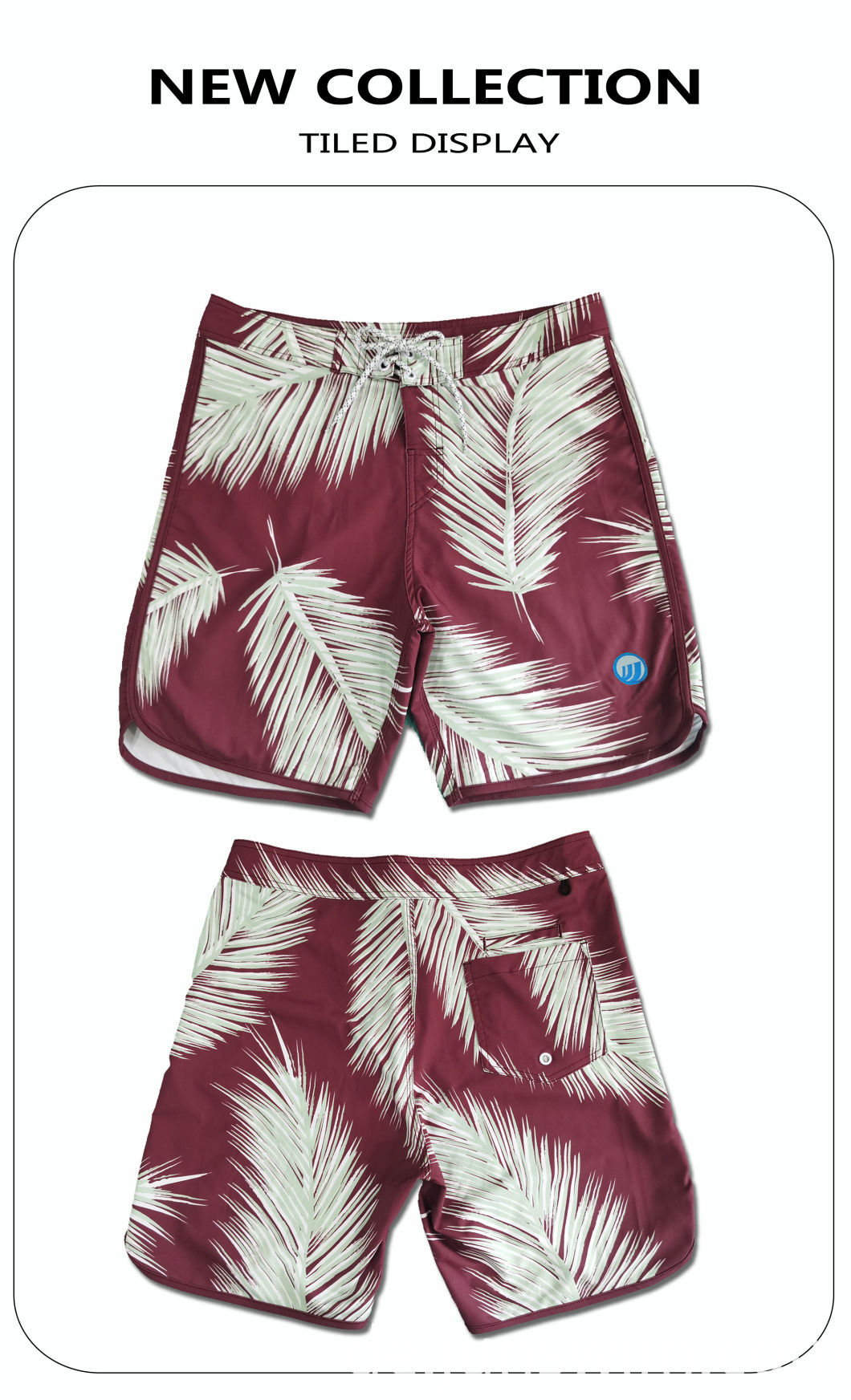 Leave Print Swimming Short