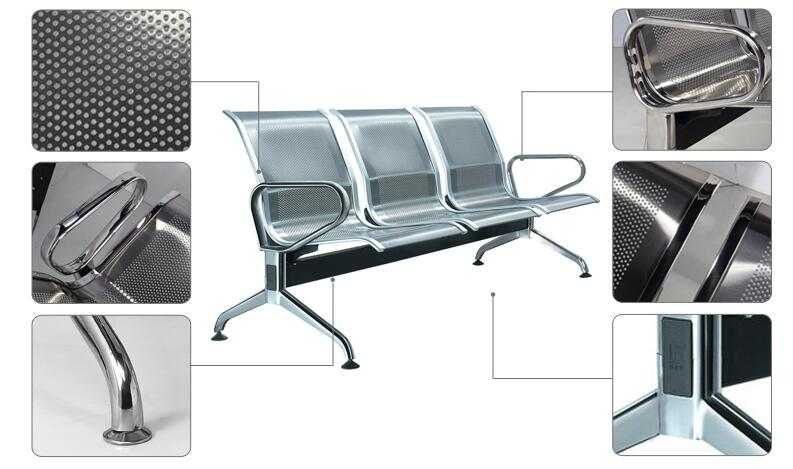 Stainless Steel Chair Furniture Waiting Chairs (DX620)