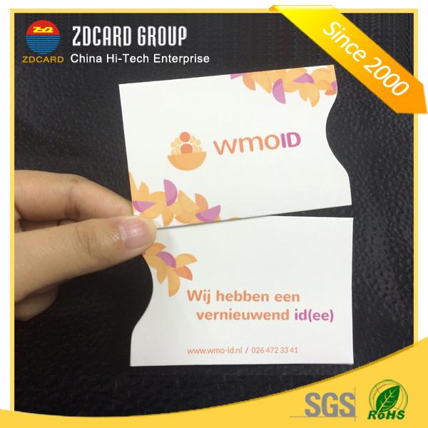 Color Aluminum Foil Paper RFID Credit Card Holder Card Sleeve