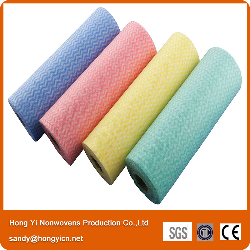 High Quality Spunlace Nonwoven Fabric Cleaning Wipes Roll