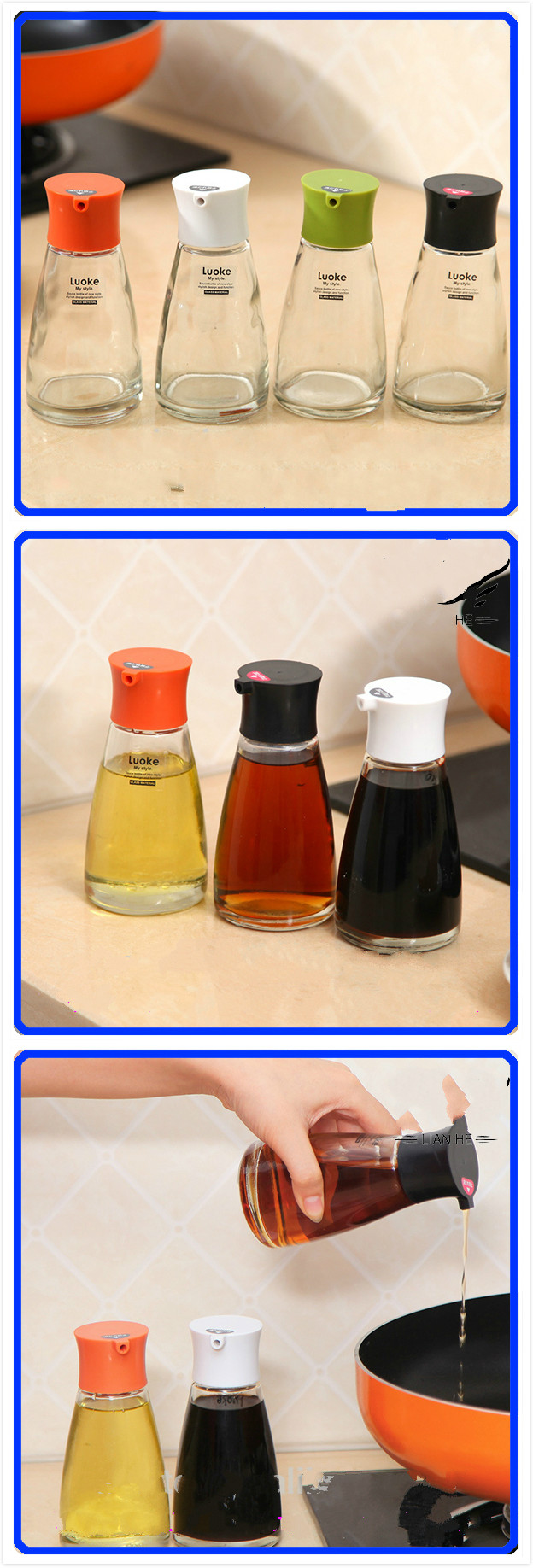 150ml 5oz Sauce Spice Vinegar Glass Jar, BBQ Glass Bottle