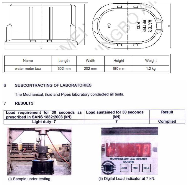 Plastic Water Meter Box (model: L315)