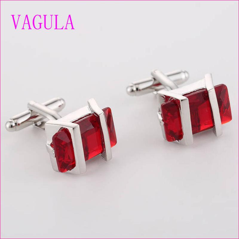 VAGULA Quality Hot Sales Super Quality Silver Gemelos Cuff Links  (325)