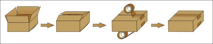 Brother Fxj5050I Semi-Automatic Carton Box Packing Machine