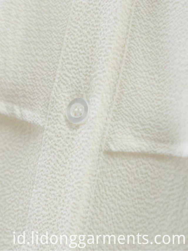 White Pleated Off Women Blouses