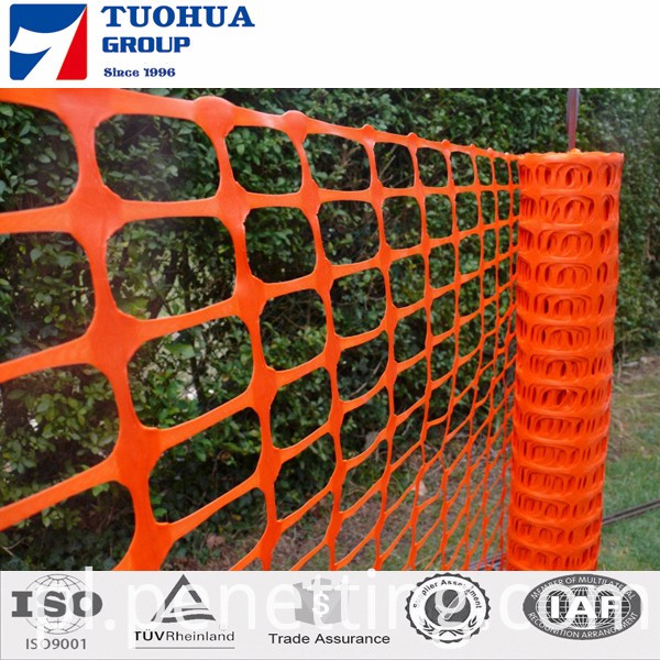 Orange barrier fence