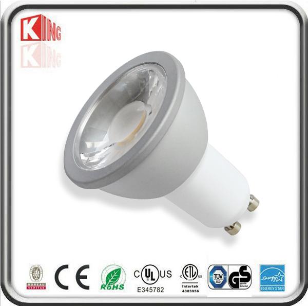 White Housing 120V 7W GU10 LED Spotlight