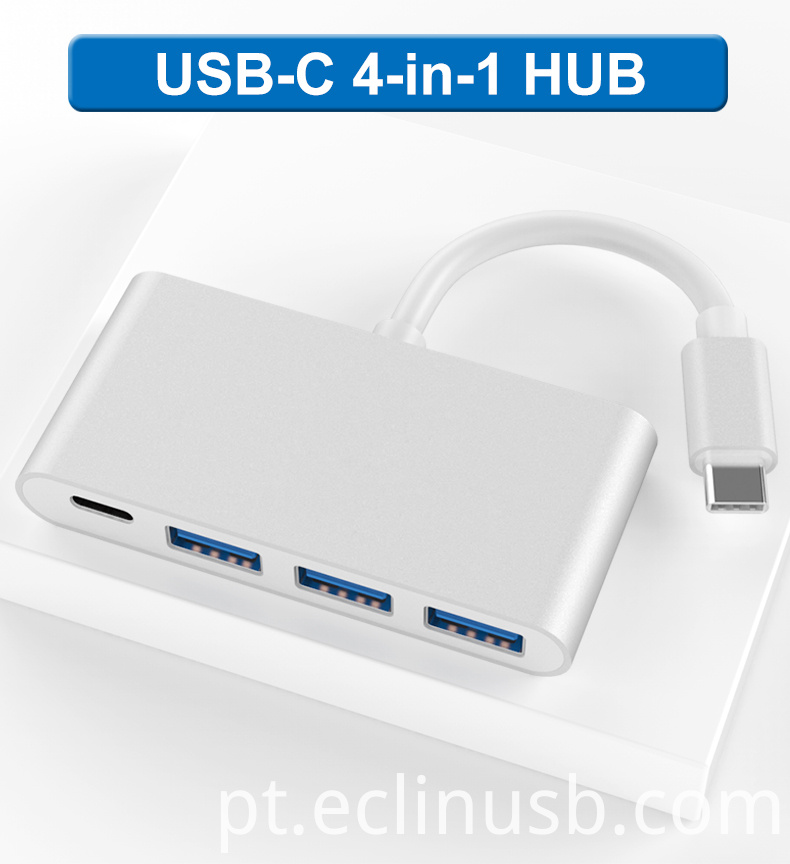 USB C HUB3.0 With PD Fast Charge