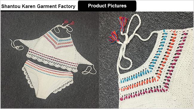 Tassels Halter Shell Handmade Crochet Bikini