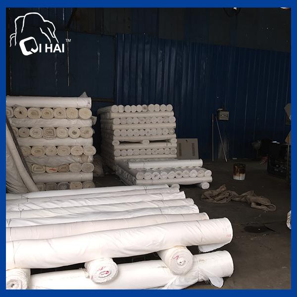 Microfiber Suede Bleach White Fabric (QHAD666)
