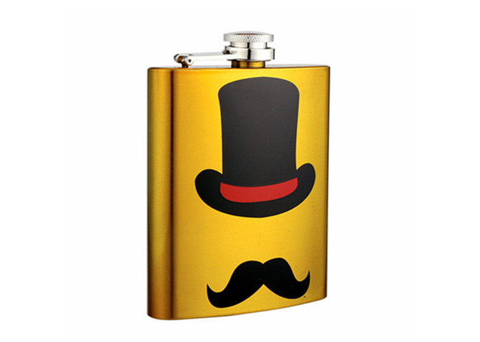 fashion Father's Day Mustache Series Hip Flask Set