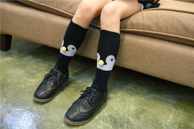 Fancy Design Fox and Penguin Ball Pattern Girls and Boys Lovely Cotton Socks Popular Styles