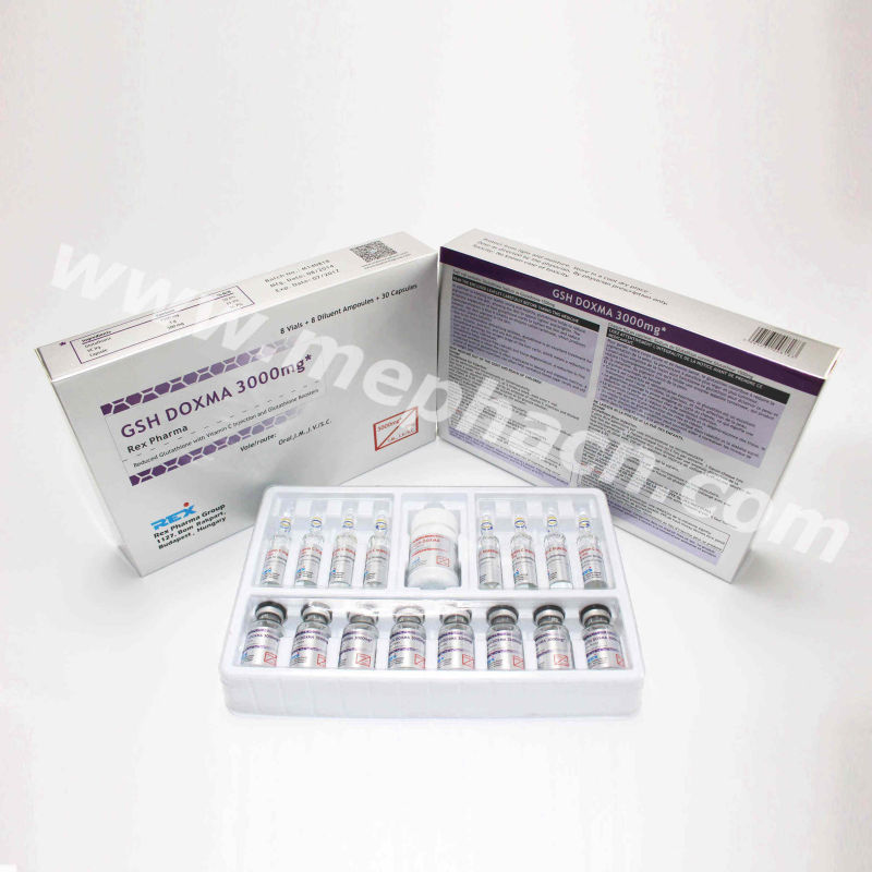 Skin Whitening Glutathione Injection &Actd/Ctd Dossier of Glutathione Injection 300mg /600mg/900mg/1200mg/1500mg/2400mg/3000mg