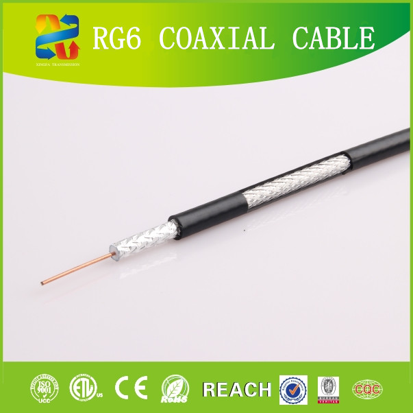 Linan Cable Manufacture Low Loss Copper Foil RG6 Coaxial Cable 18 AWG