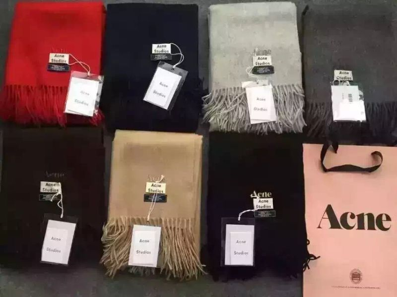 Various Color Solid Wool Scarf