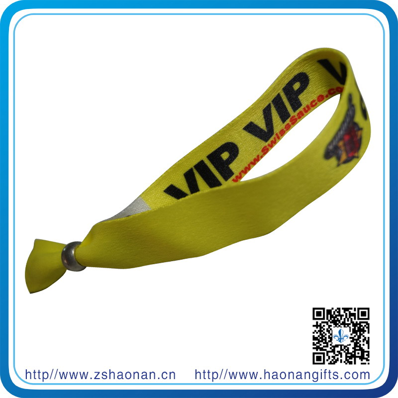 Eco-Friendly Polyester Material Dye Sublimation Wristband for Concert