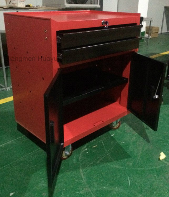 550lbs Loading Powder Coated Metal Movable 2 Lockable Doors Tool Chest