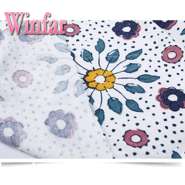 Flower Spandex Polyester Fabric