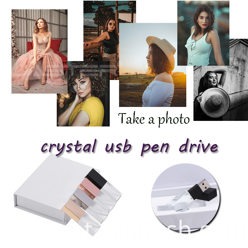 Glass Photo Usb Drive with Box