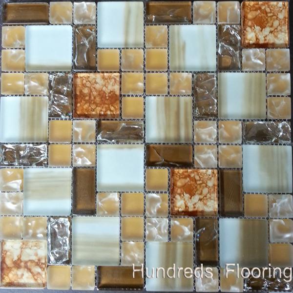 Cracked Mosaic, Mosaic Wall Tile, Crystal Glass Mosaic (HGM282)