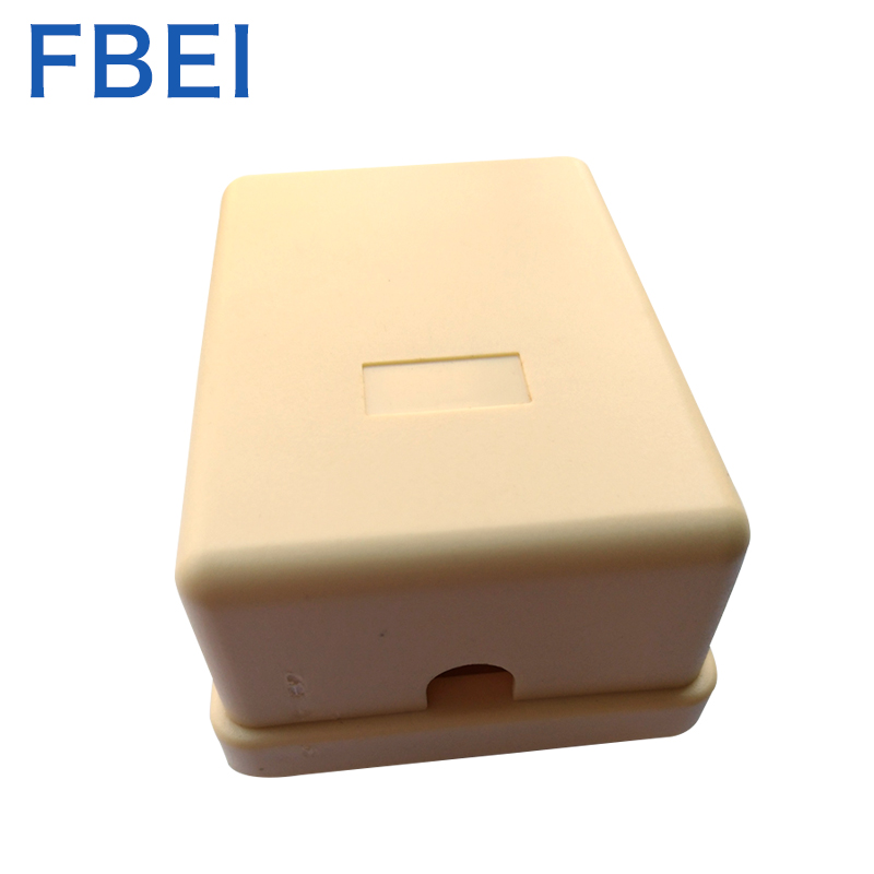 Surfcace mount box for 6P4C telephone jack