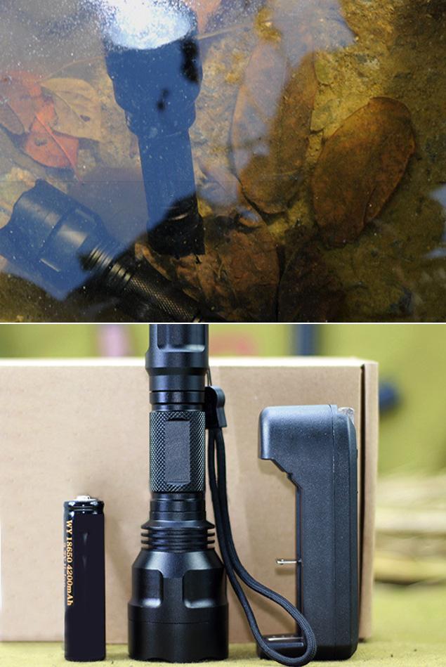 Outdoor LED C8 Long Distance Light Range Tactical Flashlight Factory Price Waterproof