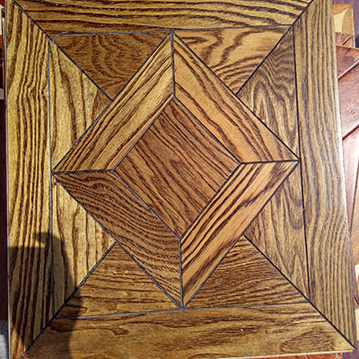 Decoration Material Mosaic Wood Flooring Art Parquet Engineered Flooring