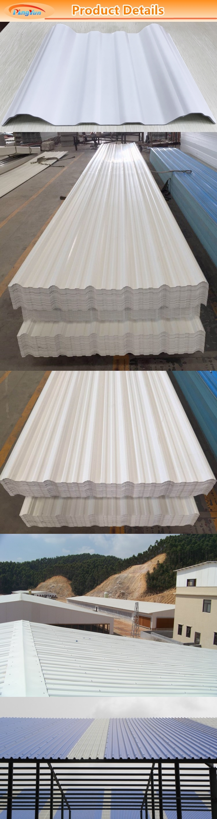 uv resistance apvc roofing sheets