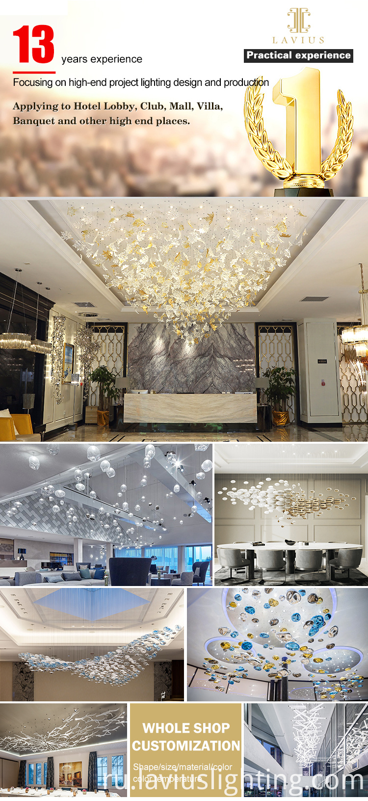Customization grand delicate chandelier light