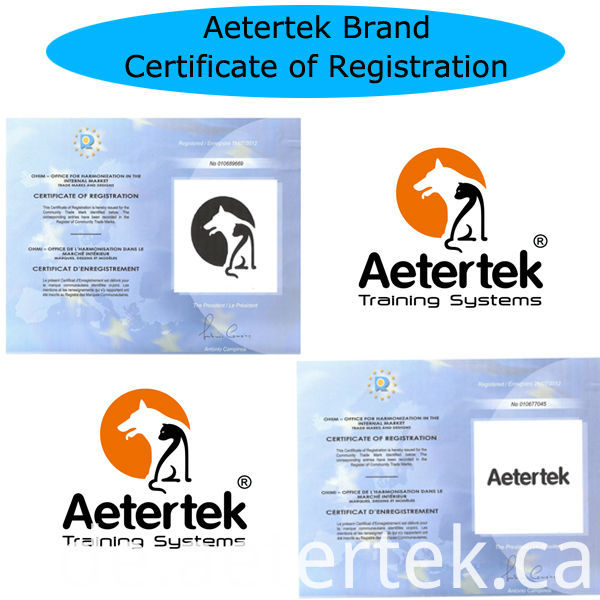 Aetertek Dog PU Collar Orange