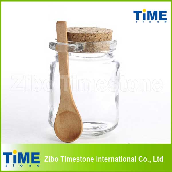 250ml Glass Spice Salt Jar with Cork Stopper