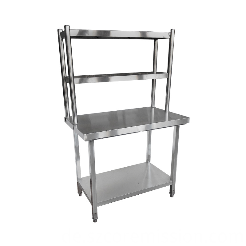 2 Layers Hotel Stainless Steel Kitchen Work Table