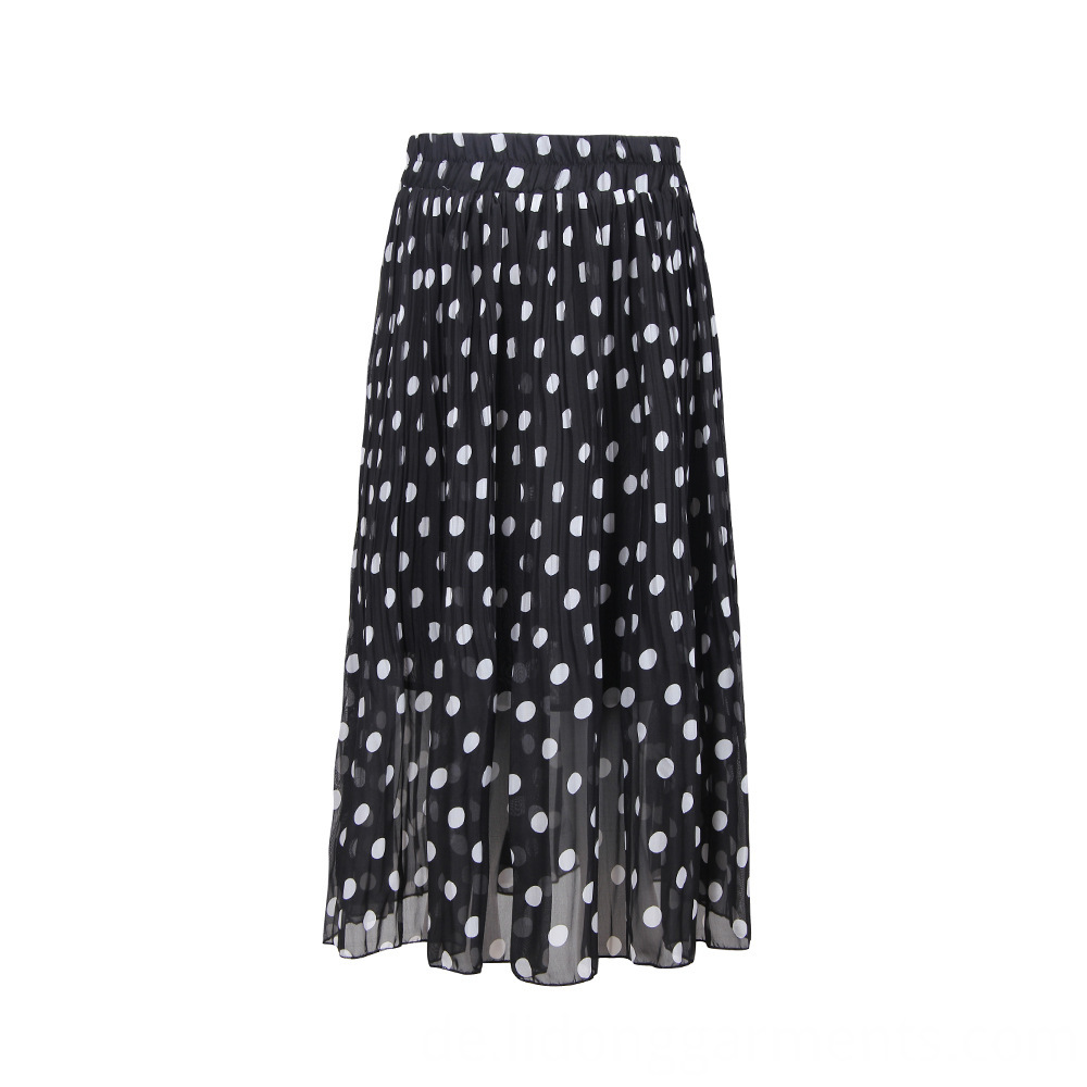 Women Pleated Mid-calf Skirt