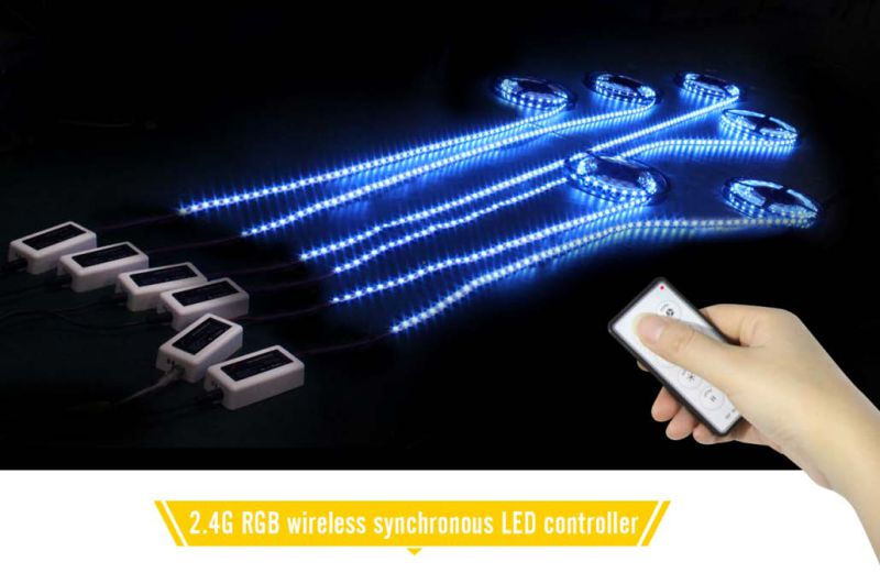 China 2.4G Synchronous Wireless RGB LED Controller Remote with Ce RoHS FC