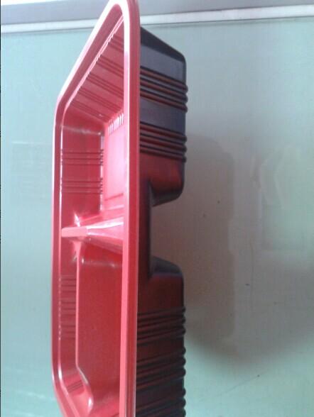 Three Hole Red Plastic Plate (HL-157)