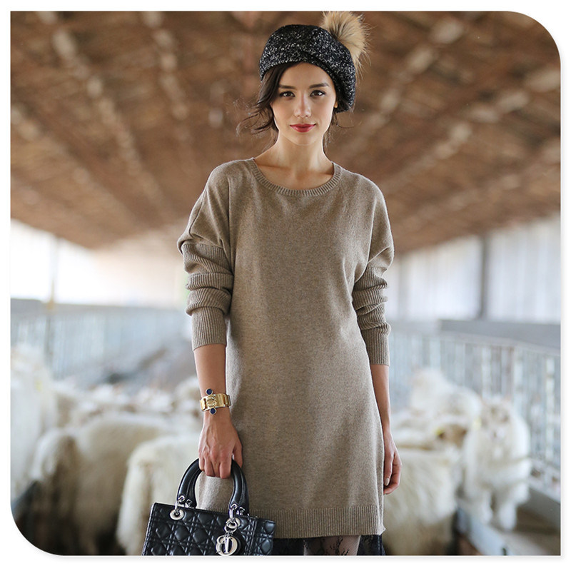 2017 New Design Women's Long Style 100% Cashmere Sweater
