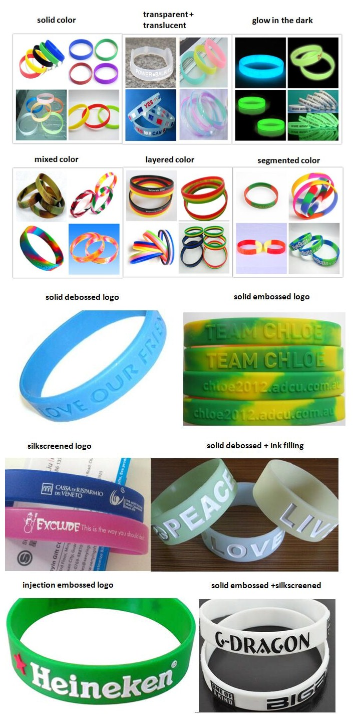 2016 Hot Sell Bracelet Fashion Silicone Rubber Wristbands