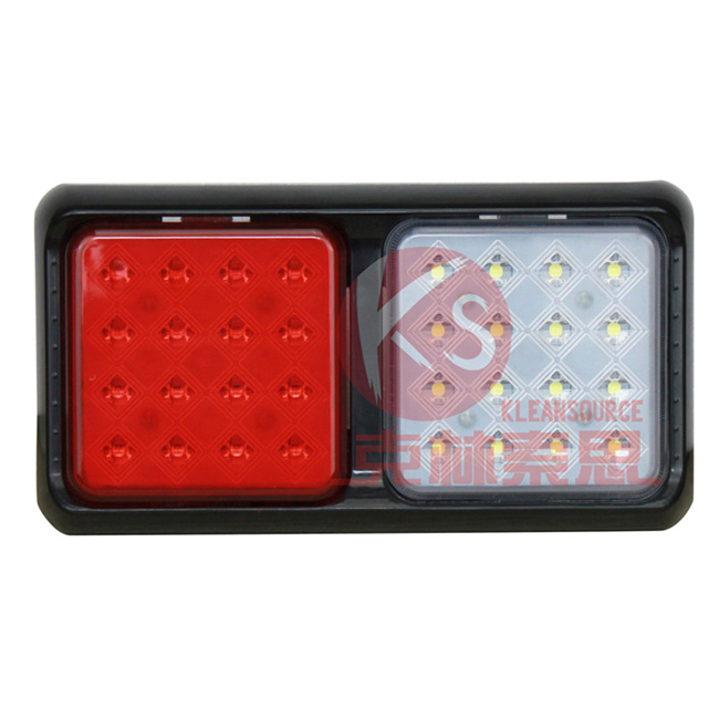 Top Sale Waterproof 24V 12V Square Compact LED Combination Lamp Kit Klss--001