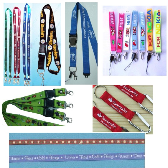 Custom Soft Lanyard with Double Sides Stitching Logo for Promotion