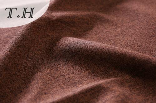 Brown Plain Linen Fabric Made in Dama Tongxiang