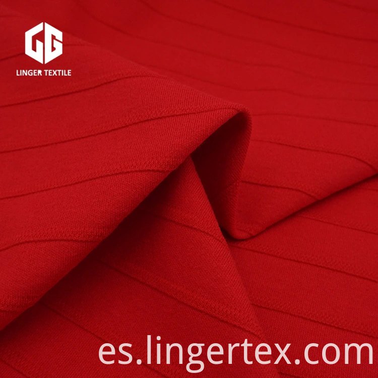 Venta al por mayor CVC Jacquard Interlock Fabric 60% Cotton 40% Polyester