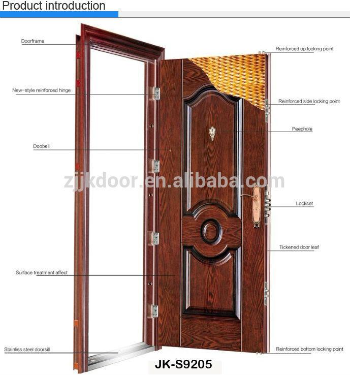 Jk S9220t Exterior Double Door Steel Security Mother And Son Door China Manufacturer