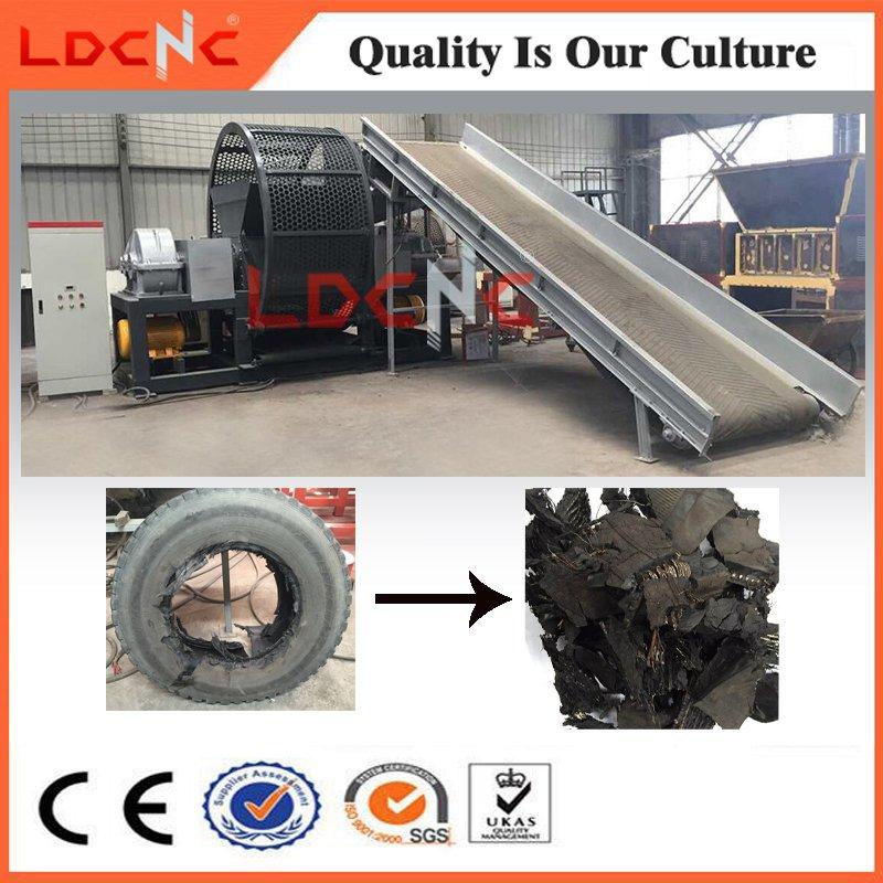 Multifunctional Waste Rubber Tire Shredder Machine for Sale