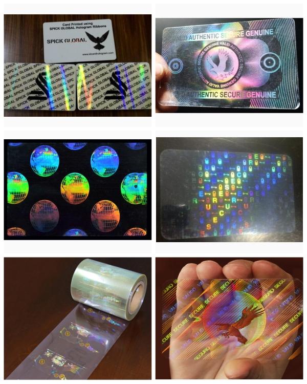 Transparent Security Hologram ID Overlay