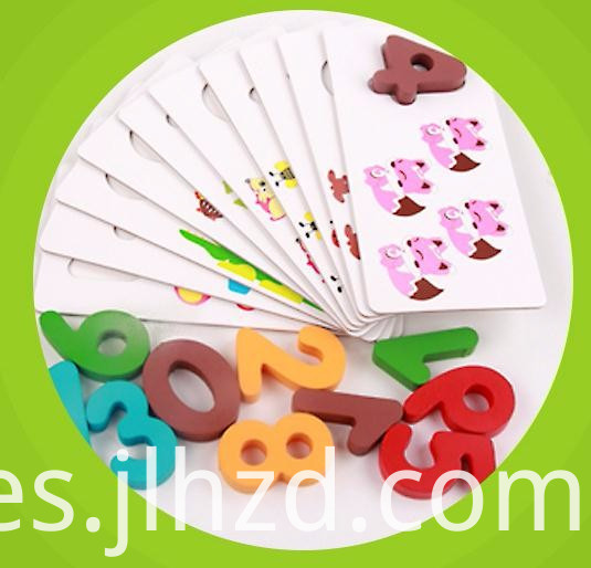 Animal Number Cognitive Board Wood Toy