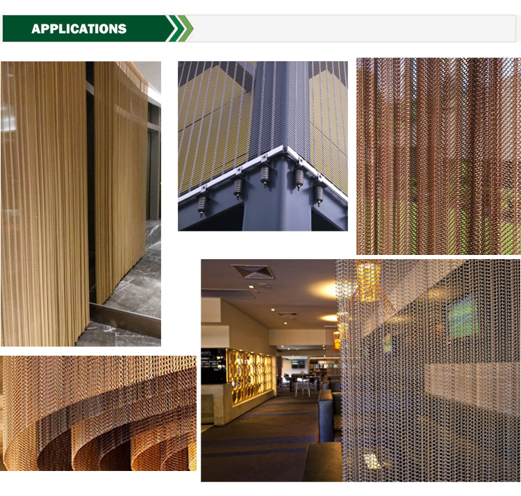 Chain Door Architectural Stainless Steel Decorative Mesh