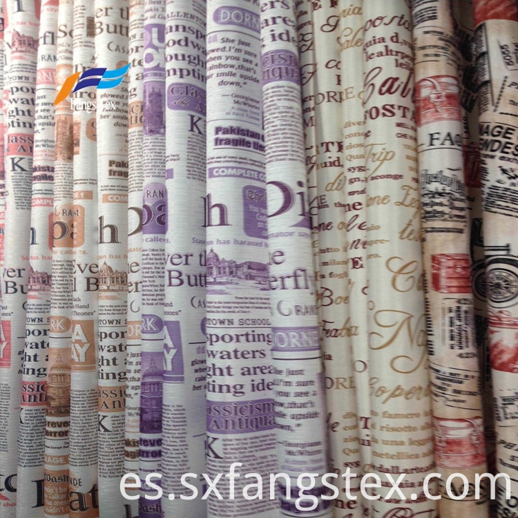 Polyester Sheer Printed Childre's Window Curtain Fabric 2