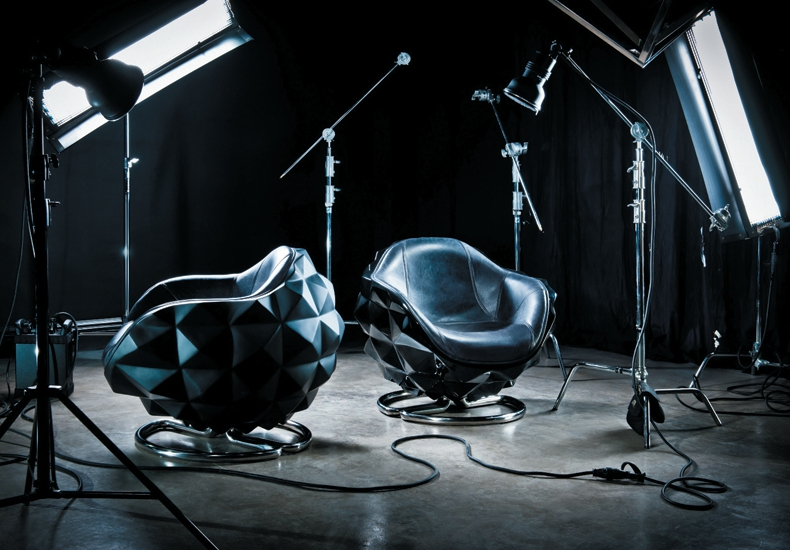 Michael Yeung Diamond Model Design Fiberglass Chairs