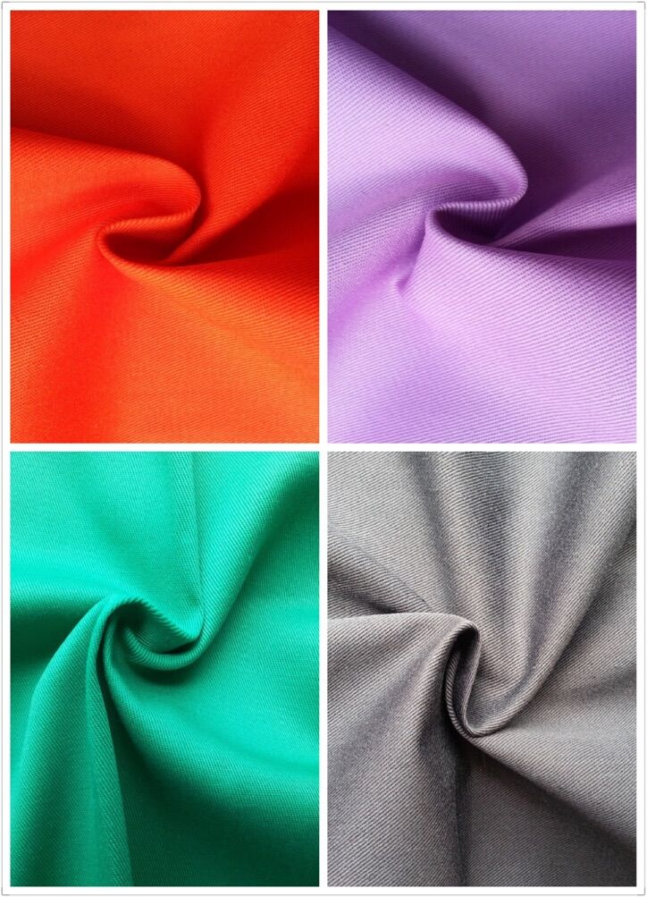 T/C 65/35 Twill Fabric for Worker Wear, White/Dyed