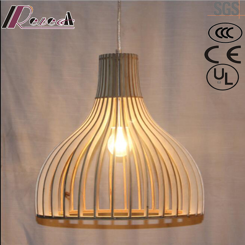 Fashion Simple and Wood Hollow Pendant Lighting with Bar